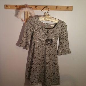 Emily West Size Gray Leopard Print Formal Dress